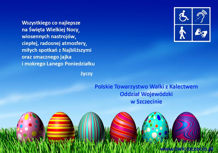 Wszystkiego co najlepsze na Święta Wielkiej Nocy, wiosennych nastrojów, ciepłej, radosnej atmosfery, miłych spotkań z Najbliższymi oraz smacznego jajka i mokrego Lanego Poniedziałku.