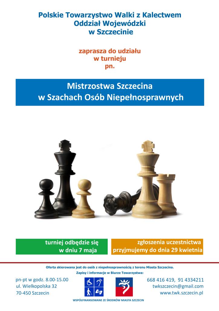 mistrzostwa w szachach osób niepelnosprawnych 7 maja TWK